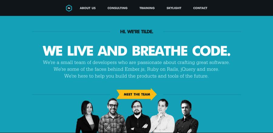 Tilde sitio web bien diseñado títulos