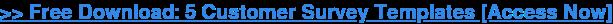 → Descargar Gratis: 5 Encuesta De Clientes De Plantillas [Acceso]