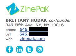 Profesional de la firma de correo electrónico por ejemplo Bretaña Hodak
