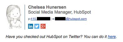 Profesional de la firma de correo electrónico por ejemplo el Chelsea Hunersen