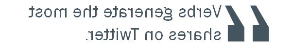 los verbos en twitter